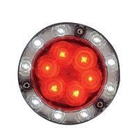 "Maxxima® Lightning S Hybrid LED Stop/Tail/Turn/Back-Up Light, Round, 5-3/4""-dia. x 1-13/16""D 