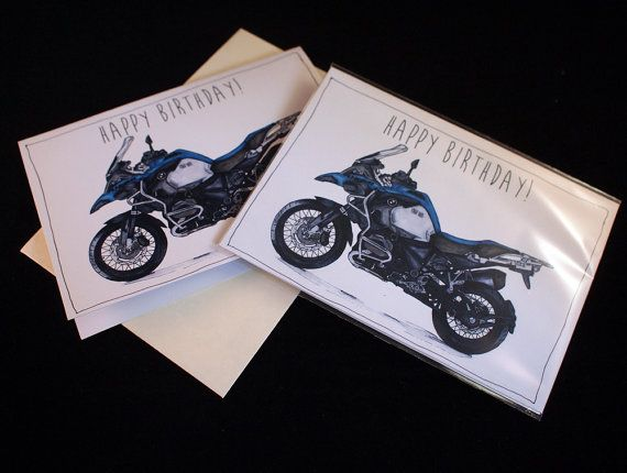 Motorcycle birthday card bmw r1200gs a6 6 x 4 103mm x motorcycle birthday card bmw r1200gs a6 6 x 4 103mm x 147mm motorbike gift card motorcycle gift card bookmarktalkfo Choice Image