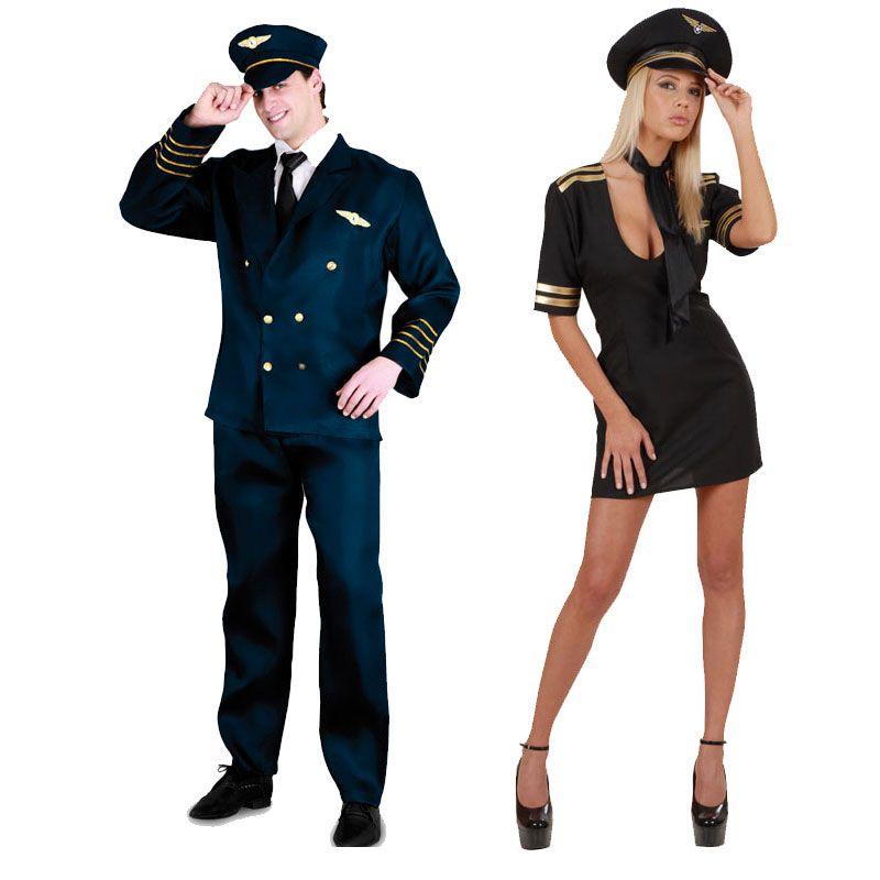 Pareja disfraces de pilotos parejas disfraces carnaval for Disfraces parejas adultos