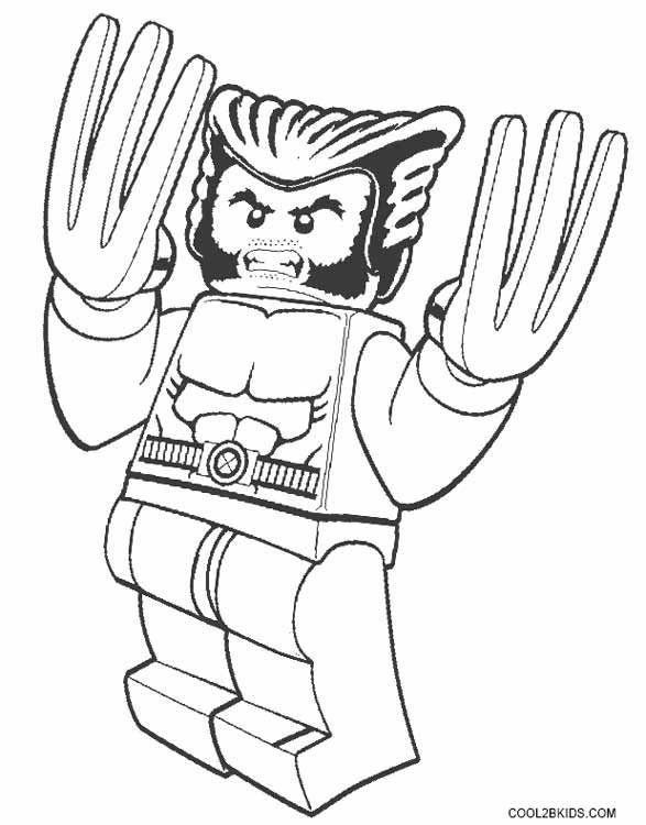 Resultado de imagen de colorear lego lobezno | SUPERHEROES ...