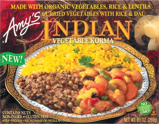 Indian vegetable korma my absolute favorite frozen dinner dorm amys kitchen natural and organic foods indian vegetable korma forumfinder Gallery