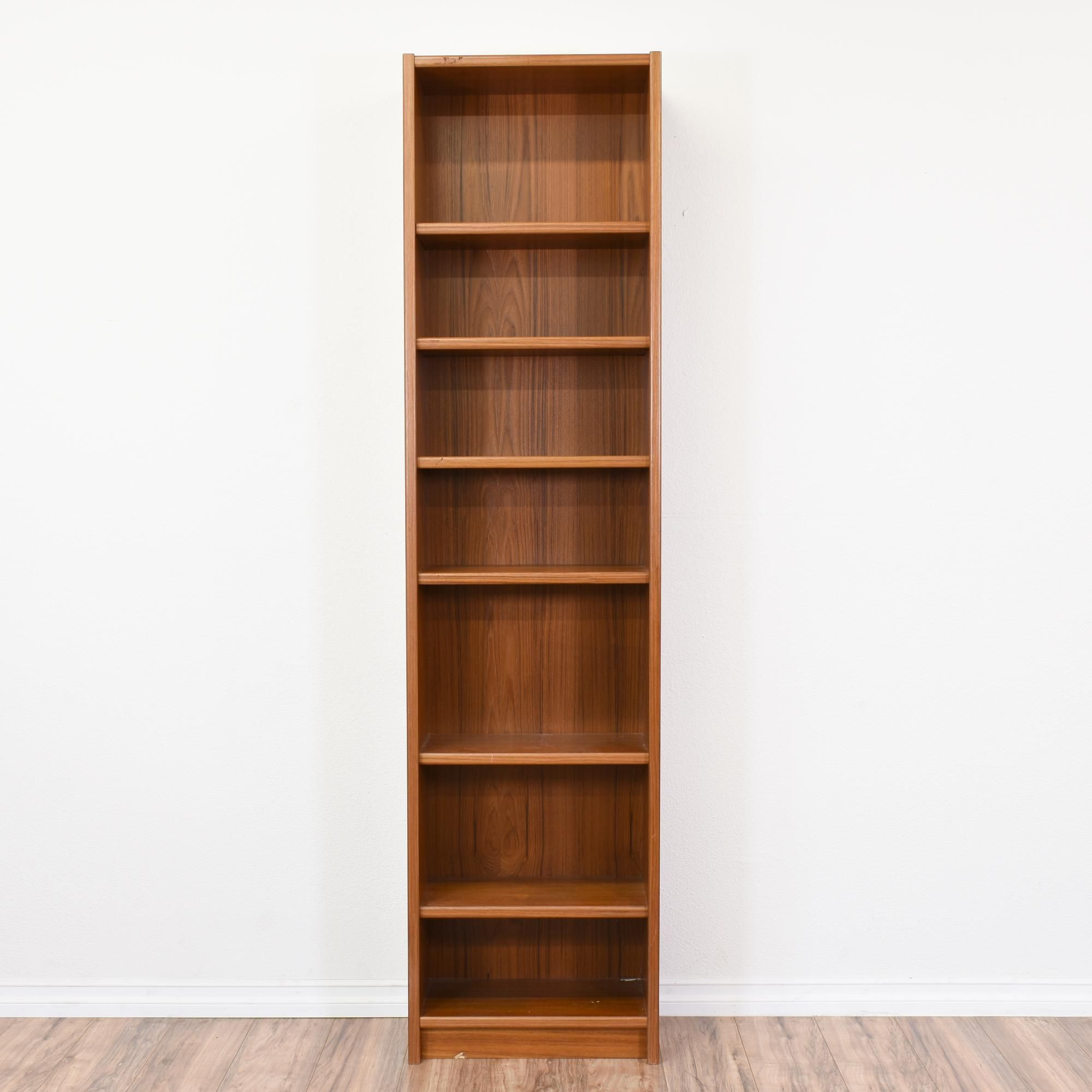 Danish Modern Tall Narrow Teak Bookcase Modern Bookcase