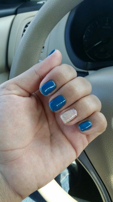 Deep blue nails