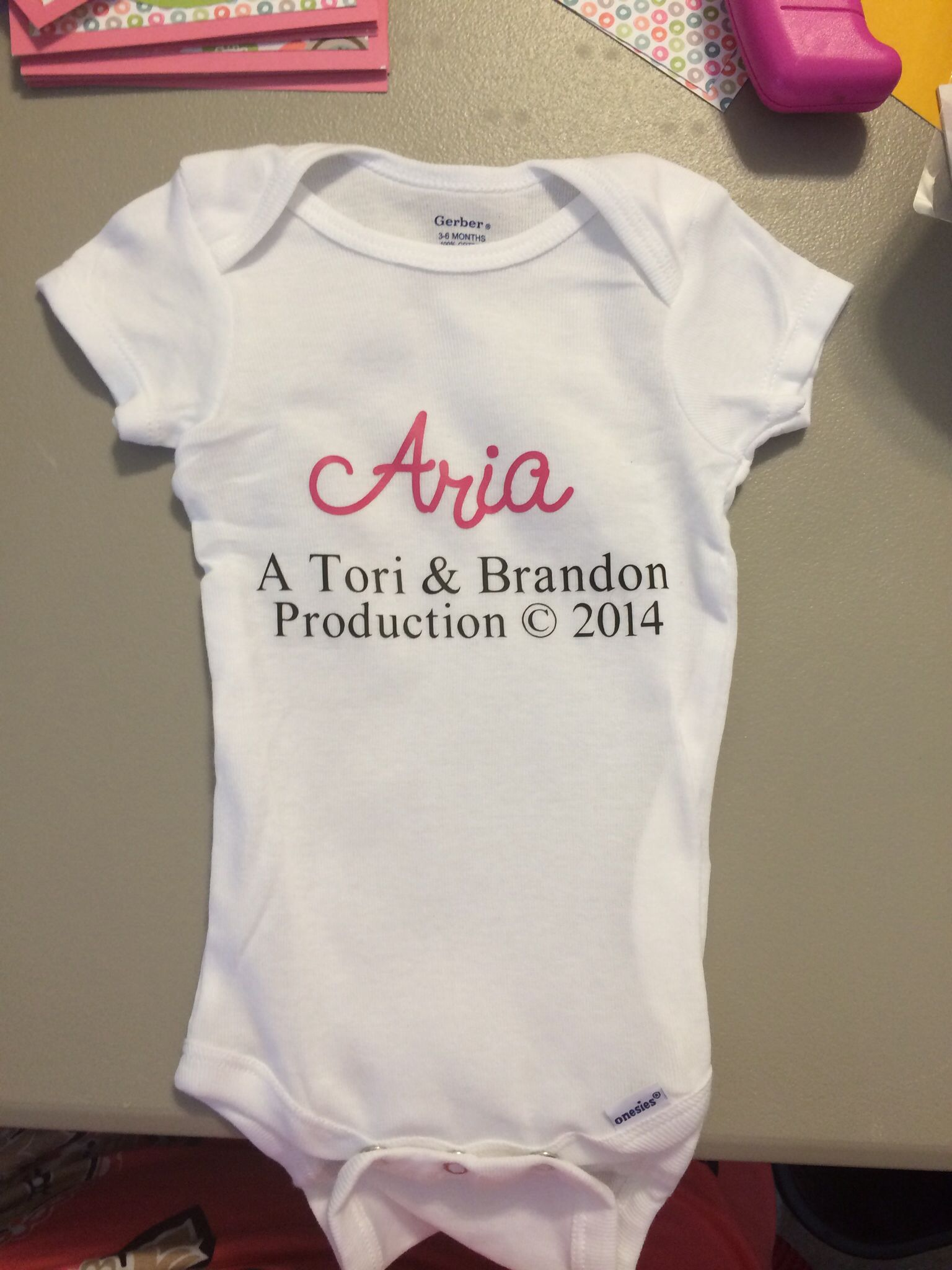 855bbd911 Baby Onesie I made for Aria | Cricut | Onesies, Baby, Cricut