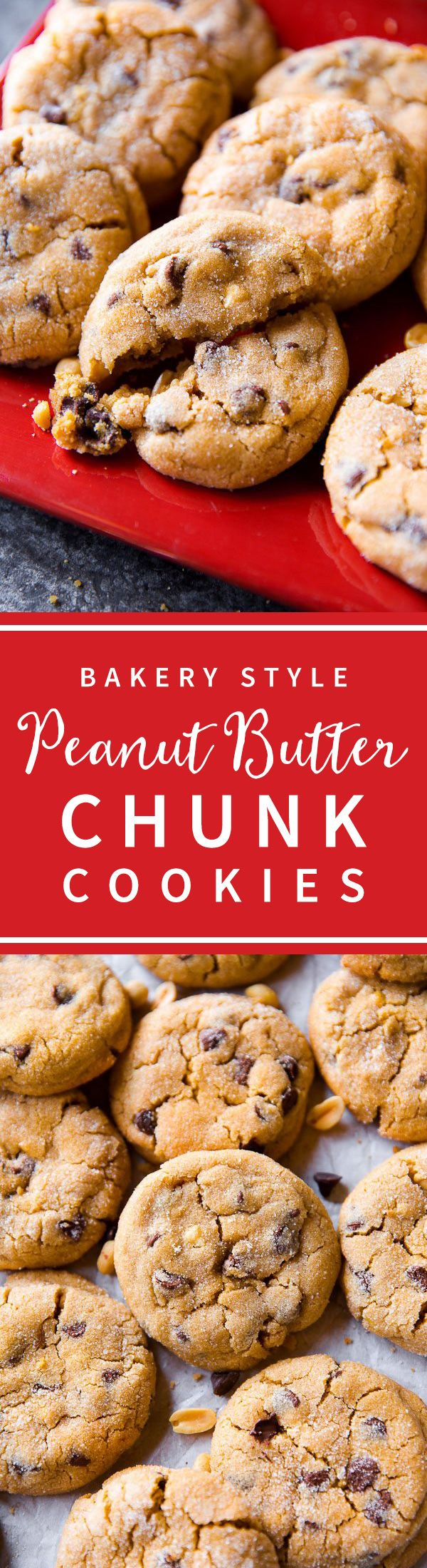 Soft Peanut Butter Cookies Big And Bakery Style Peanut Butter Chocolate Soft Peanut Butter Cookies Peanut Butter Recipes Peanut Butter Chocolate Chip Cookies