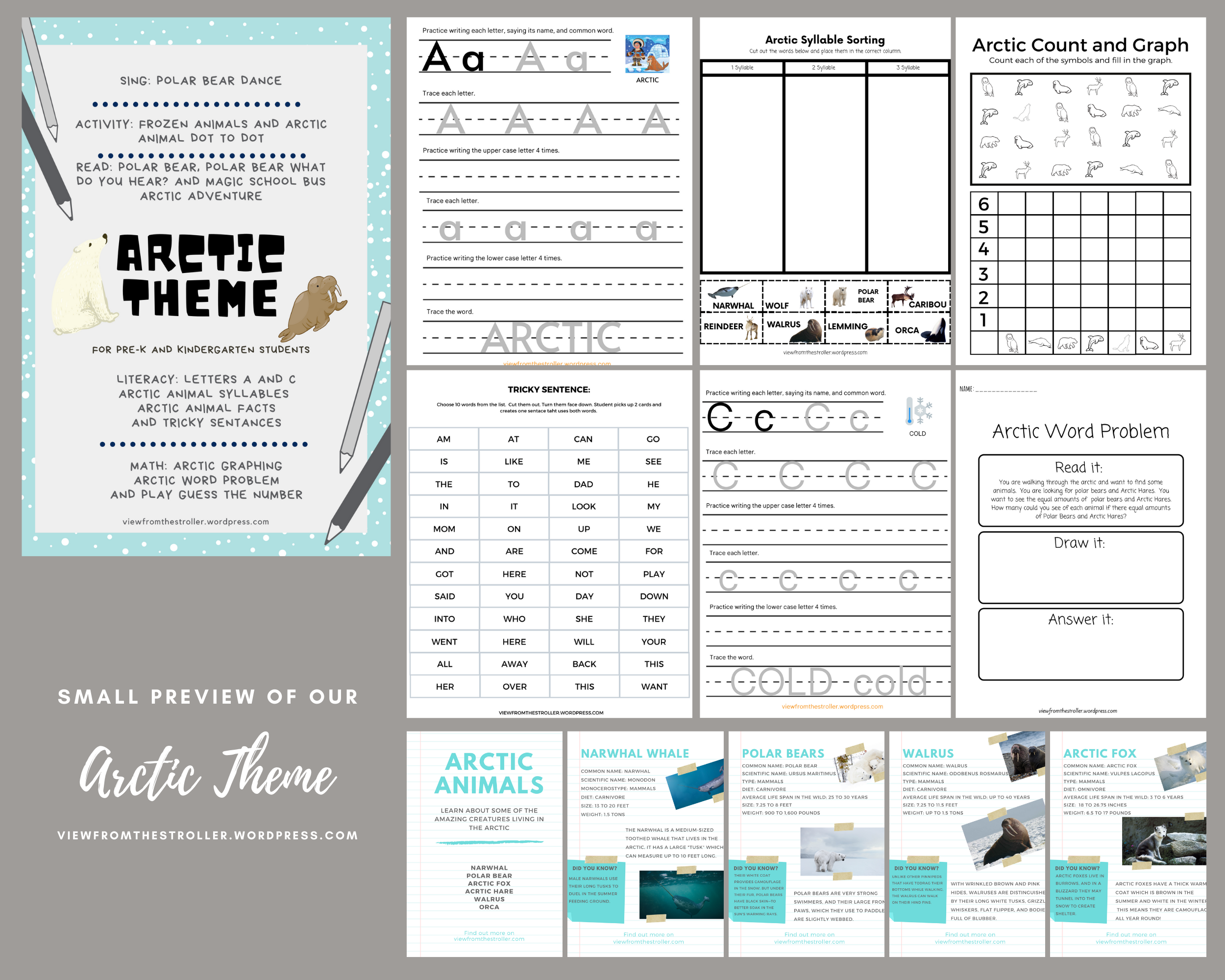Arctic Theme Worksheets Activities Amp Games Pre K And