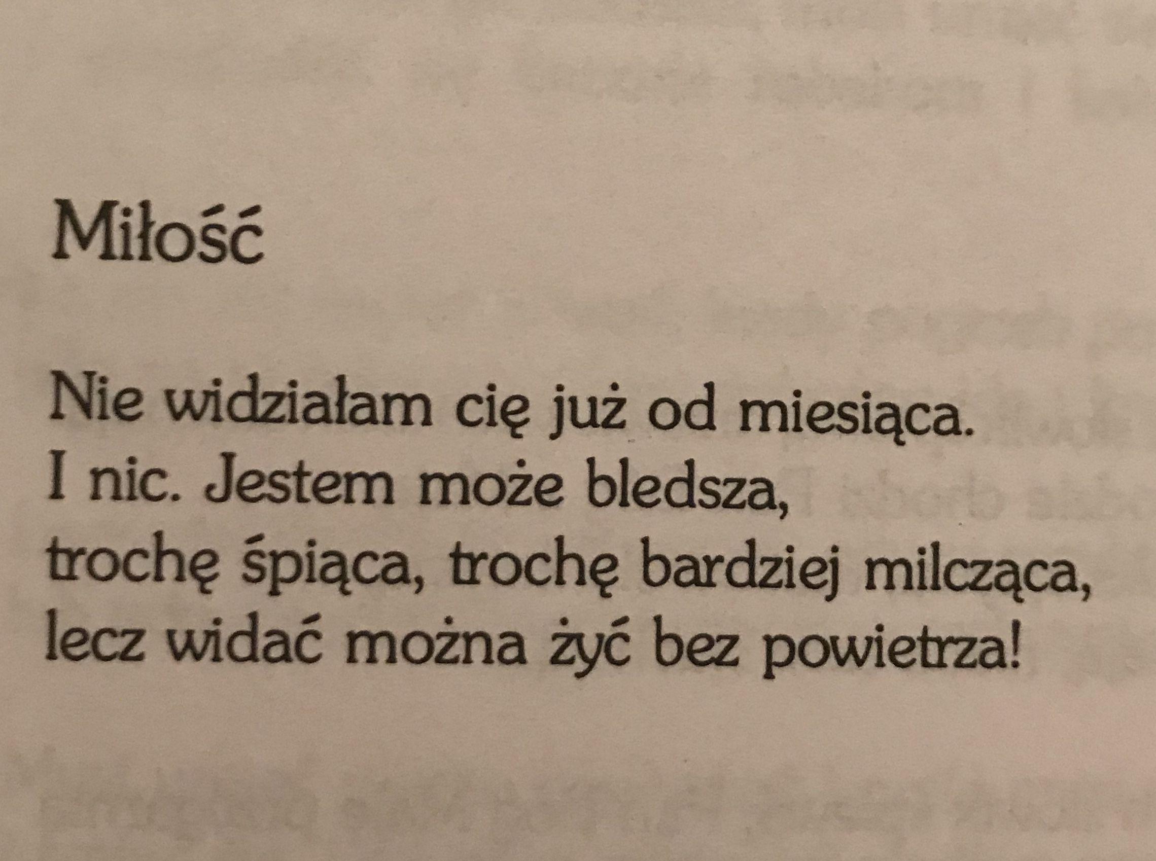 Wiersz Poezja Książka Myśli Milosc Uczucia Emocje