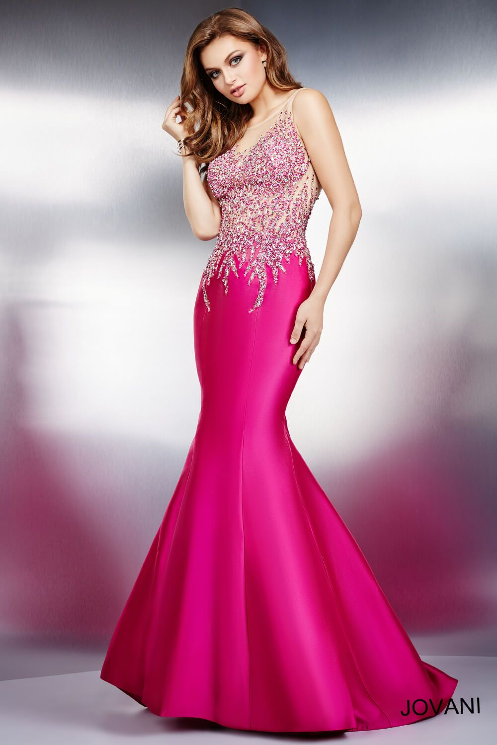 Fuchsia Sleeveless Mermaid Prom Dress 21929 | ♚ GLAMOUR ...