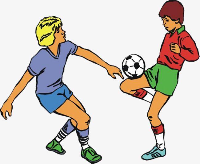 اثنين من الأطفال الصغار يلعبون كرة القدم   Kids playing ...