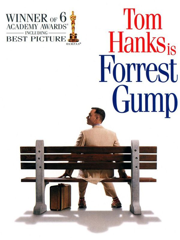 #1 - Forrest Gump    There's humor, love, action, drama, and everything else you can think of, it such an amazing story. You cannot pass up watching this movie if you never have seen it before. A must see.