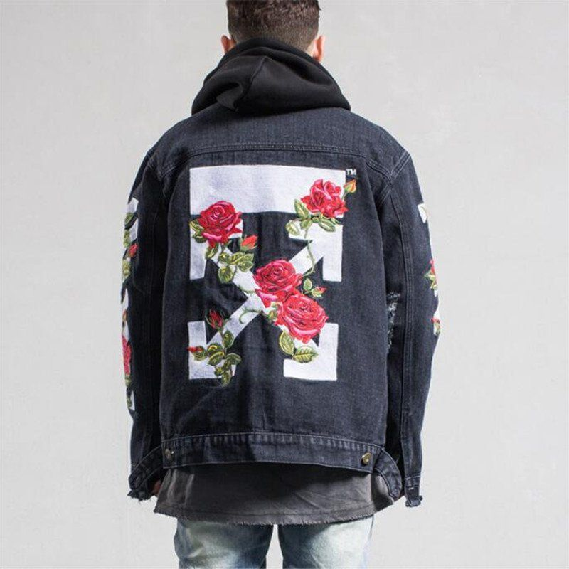 2017 NEW men off white denim jacket | STYL3Z Guide - Hottest ...