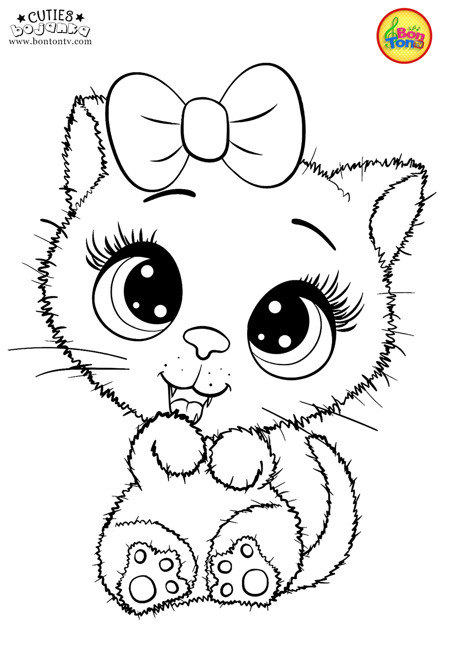 Cuties Coloring Pages For Kids Free Preschool Printables Slatkice Bojanke Cute Animal Unicorn Coloring Pages Free Kids Coloring Pages Free Coloring Pages