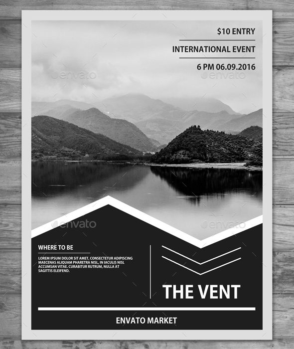 A4 Clean Minimal Flyer Template PSD. Download Here: Https