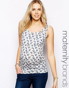 dfe57470a458 ASOS Maternity New Look Maternity Bird Print Vest