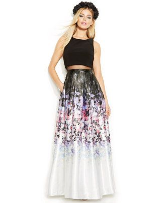 Vintage betsy and adam dress long multicolor