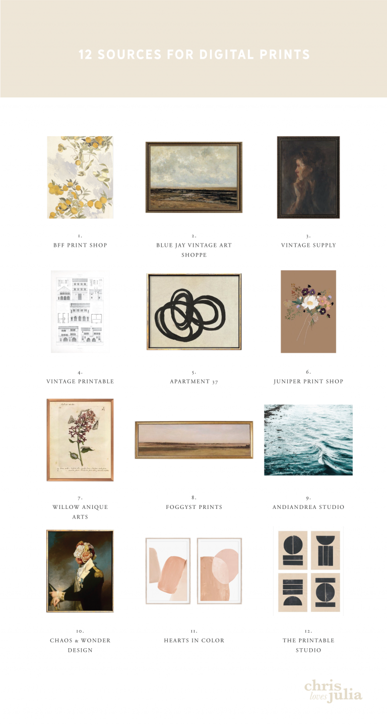 12 Sources for Digital Art You Can Download and Print At Home