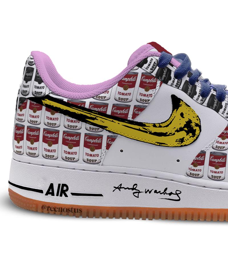 O encontro da Nike e Andy Warhol #andywarhol