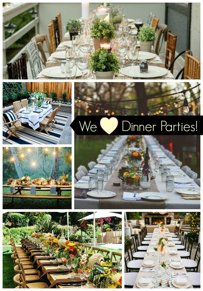 Superb Garden Dinner Party Ideas Part - 11: We Heart Outdoor Dinner Parties! There Are So Many Great Ideas Out There  That We Rounded Up Our Favorite Ones To Give Your Tons Of Ideas And  Inspiration!