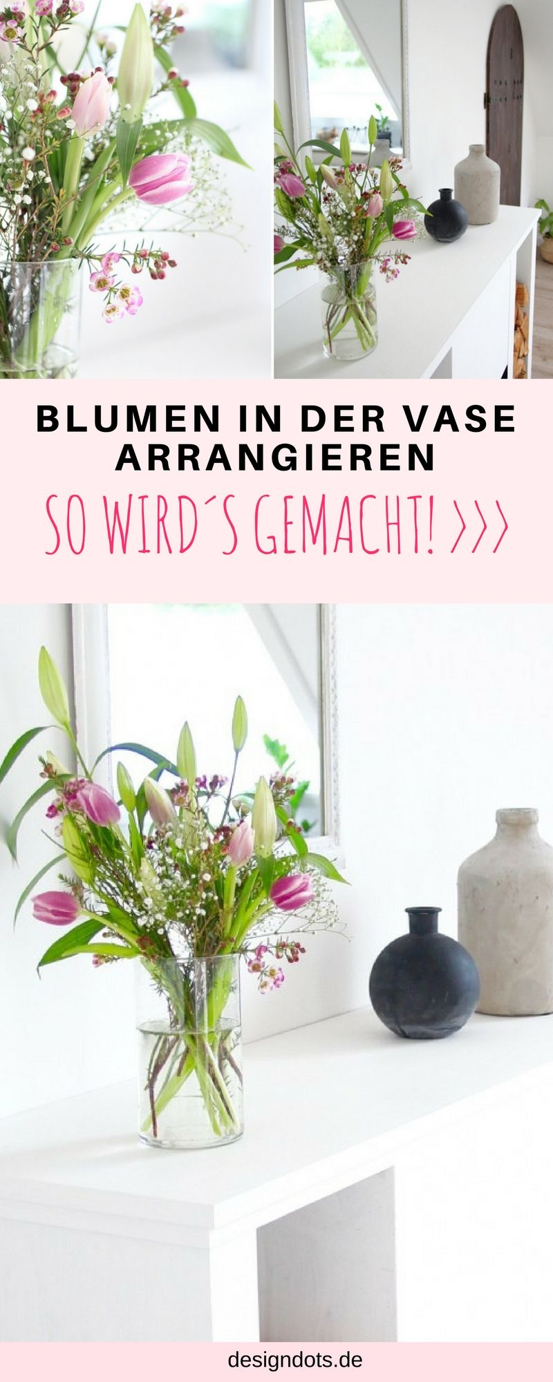 blumen in der vase arrangieren tipps tricks blumenvase blumenstr u e und binden. Black Bedroom Furniture Sets. Home Design Ideas