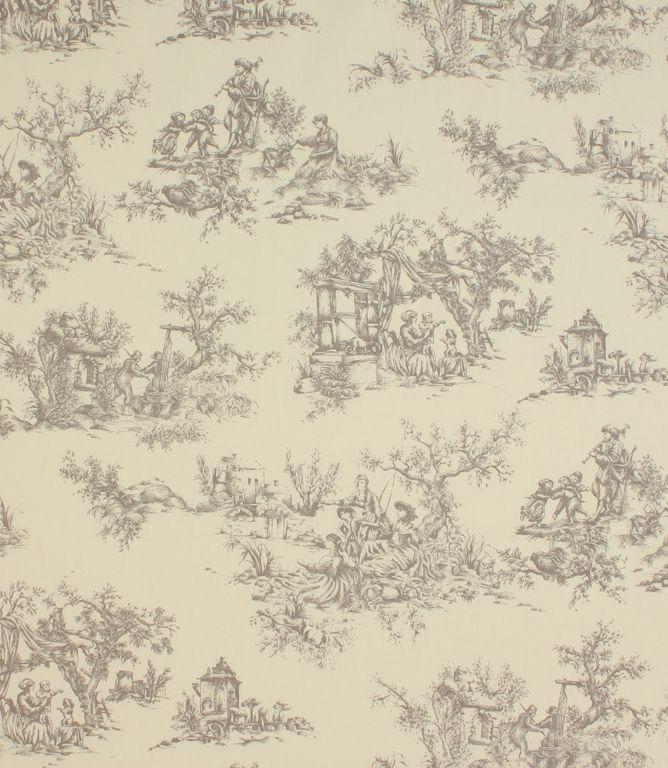 grey toile fabric 1312 1 1 Fabric Pinterest