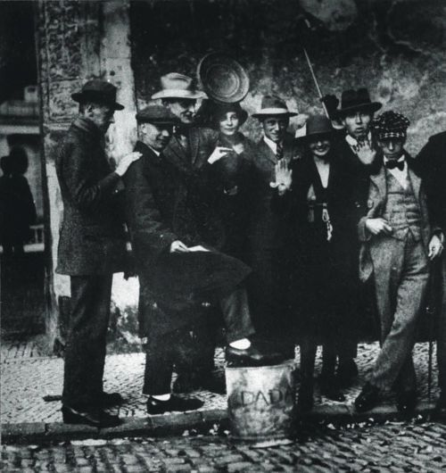 Max Burchartz   to right) Kurt Schwitters, Jean Arp, Max Burchartz, Lotte Burchartz ...