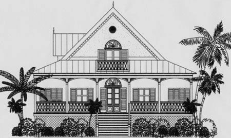 Key West Style House Plans | From the Caribbean Cottage Plan Series Key West Historic Victorian House Plan on michigan victorian house plans, key west patio home plans, key west florida home plans, san francisco victorian house plans, key west bungalow plans,