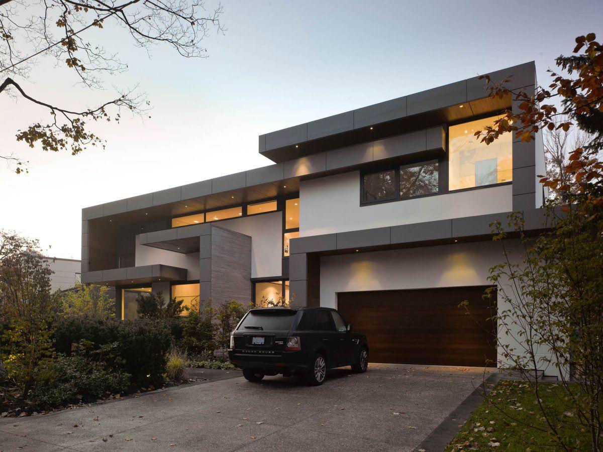 Driveway Garage Impressive Modern Home In Toronto Canada
