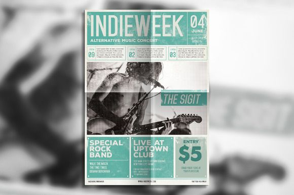 Indie Newspaper Poster By Guuver On Creative Market Creative