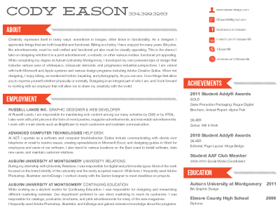 Resume Headers Unique Cool Look With Nice Section Headers And A Nice Contrasting Font .