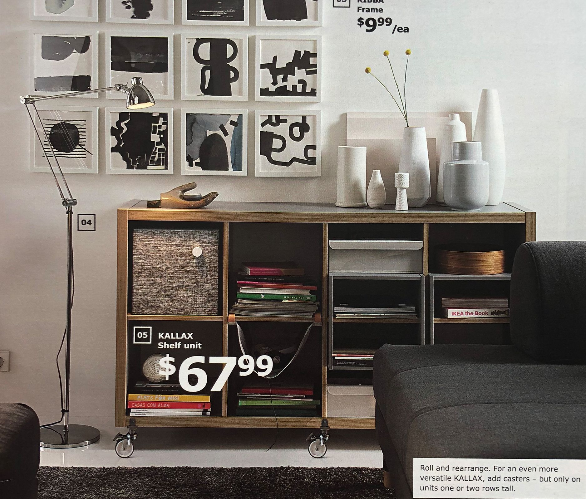 Ikea Expedit Länge Use It Horizontally As A Shelf Or Vertically And Get A Side Table