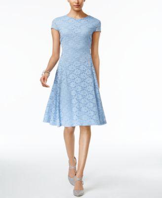1e62ccd1347d Alfani Petite Lace Fit & Flare Dress, Only at Macy's - Orange 10P ...