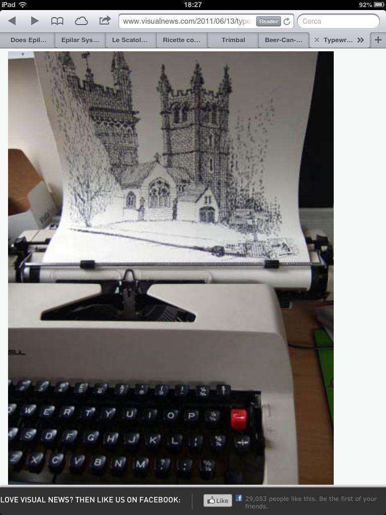 British artist keira rathbone uses old typewriters to