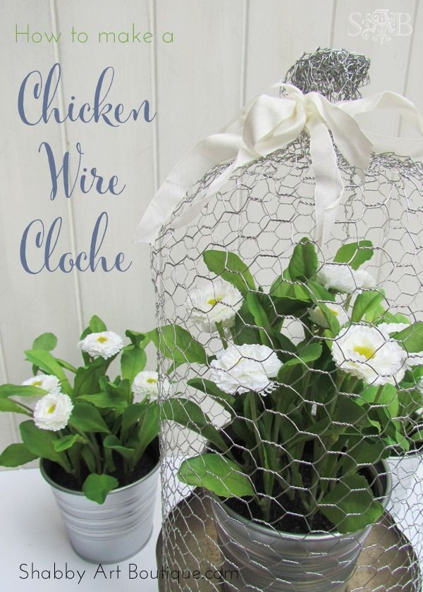 DIY tutorial: Chicken Wire Cloche: Shabby Art Boutique - Easy to ...