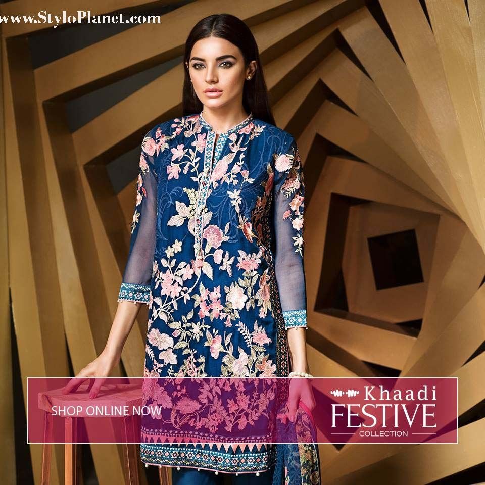 Luxrious festive lawn collection for eid by khaadi stylo planet
