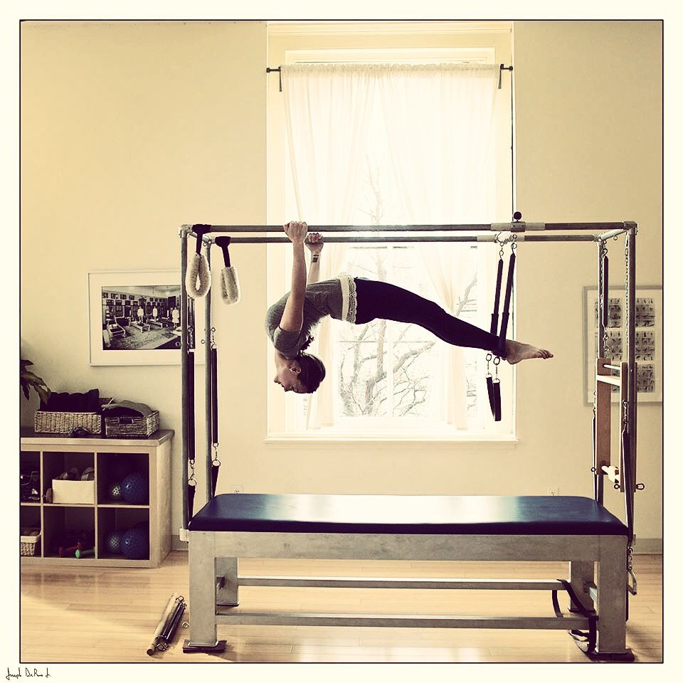 Cadillac Pilates: Terianne Hanging On The Gratz Cadillac- Classical Pilates