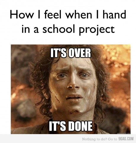 This is how I felt the other day when I finished all of my
