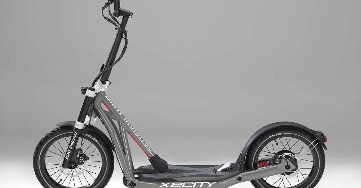 bmw motorrad x2city zum kicken und klappen tretroller. Black Bedroom Furniture Sets. Home Design Ideas