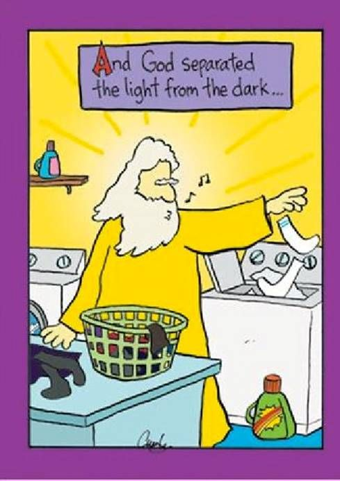 And God separated the light from the dark ... | Christian Funny Pictures - A time to laugh