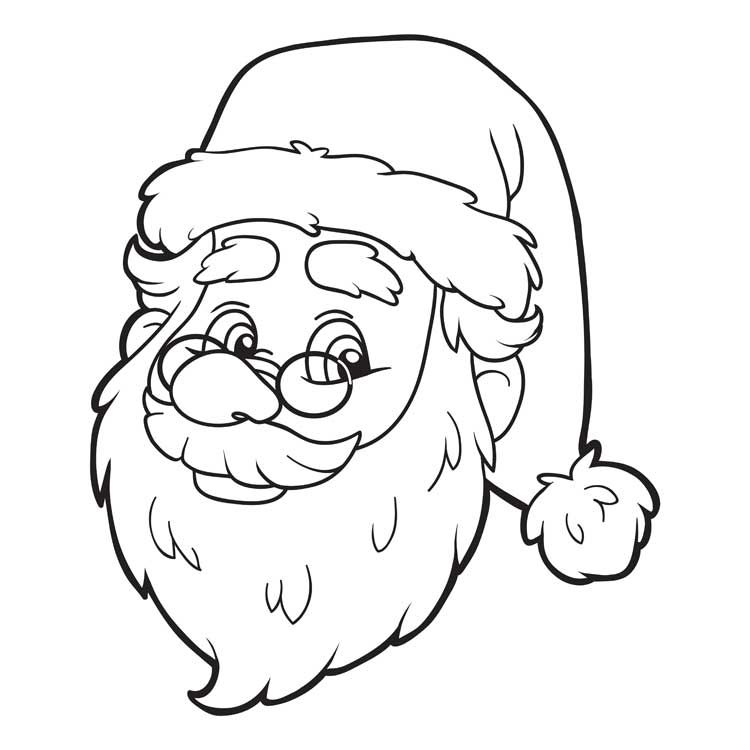 santa claus coloring page this free cute coloring sheet will be a hit at a home room christmas party or for the kids to color during holiday break