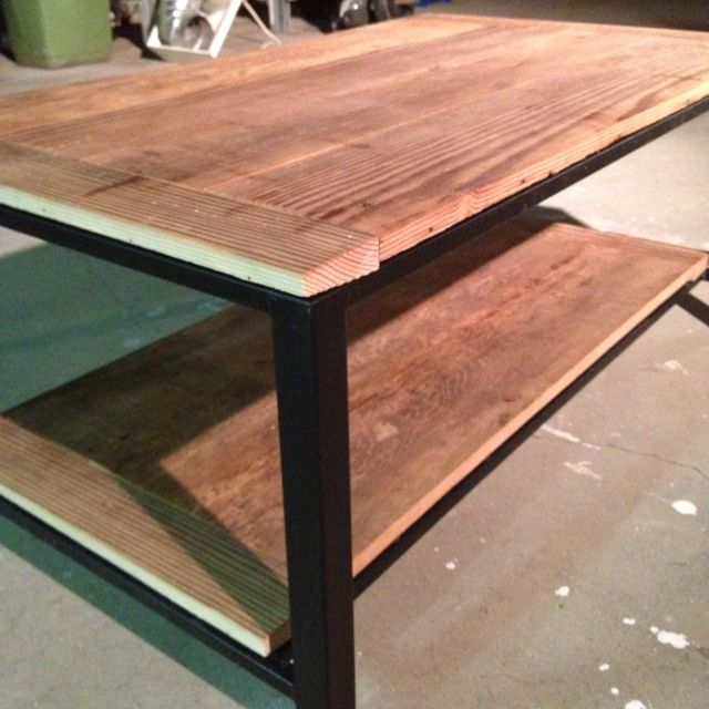 Reclaimed Wood Coffee Table In The Making Biscuit Joined And