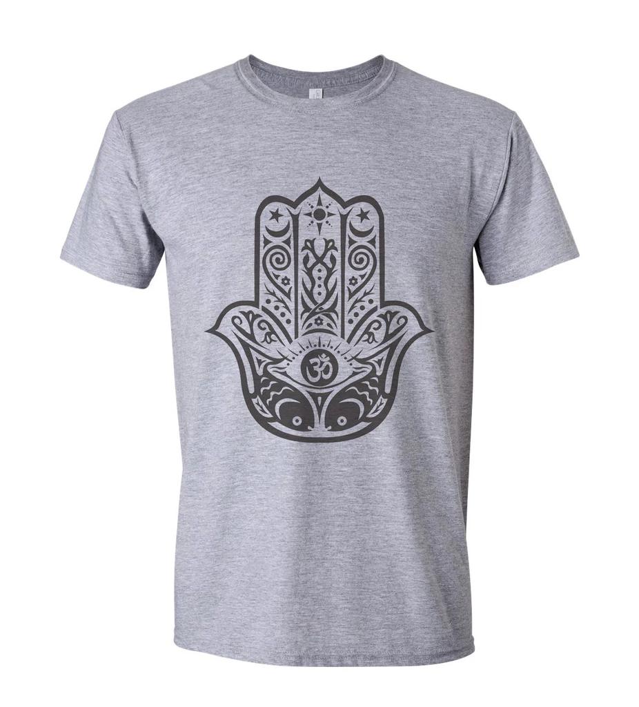 Hamsa Rainbow Short Sleeve t-Shirt
