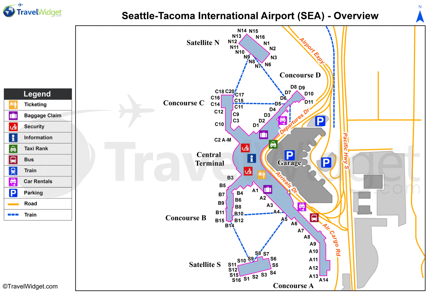 seattle airport map terminal Pin By Marcie Spears On Airports Airport Map Airports Terminal seattle airport map terminal