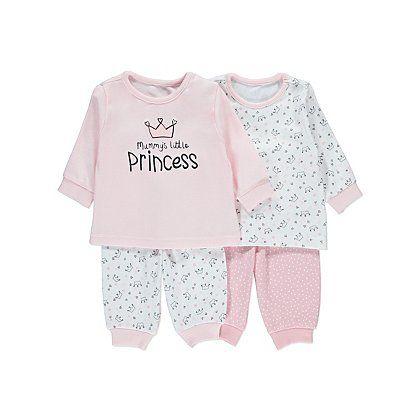 Mummy s Little Princess Pyjamas 2 Pack  0b3c1e0278