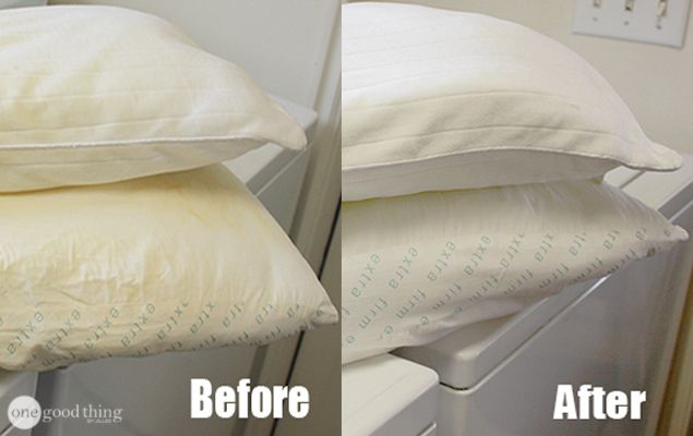 Whiten Your Old, Yellowed Pillows