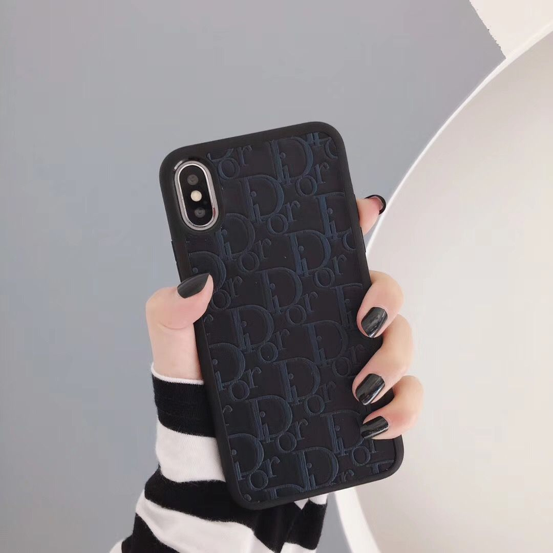 $28.03 Dior Leather Pattern Soft Back Cover for iPhone XS Max ...