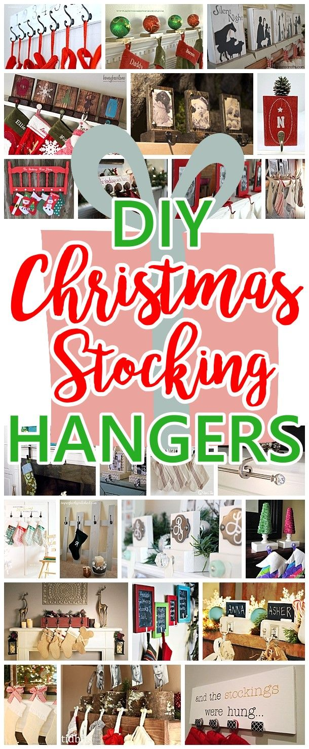 The best diy christmas stocking hangers and display ideas cheap cheap and easy do it yourself christmas stocking hangers and clever tutorials ideas and ways to display stockings even without a mantel for the holidays solutioingenieria Gallery
