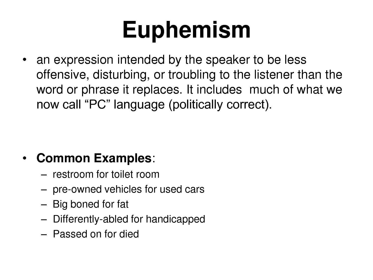 Awesome Euphemism Examples   Google Search