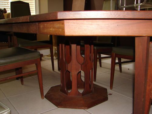 Danish Foster McDavid Mid Century Octagon Table Dining Set ...