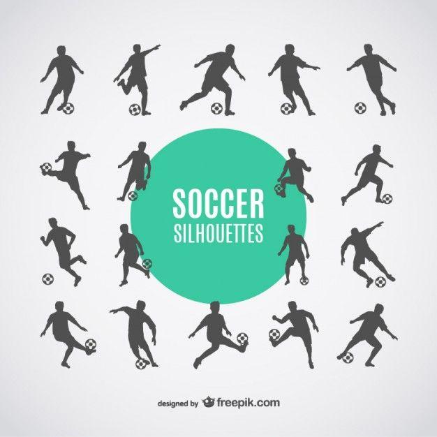 Siluetas de jugadores de fútbol.