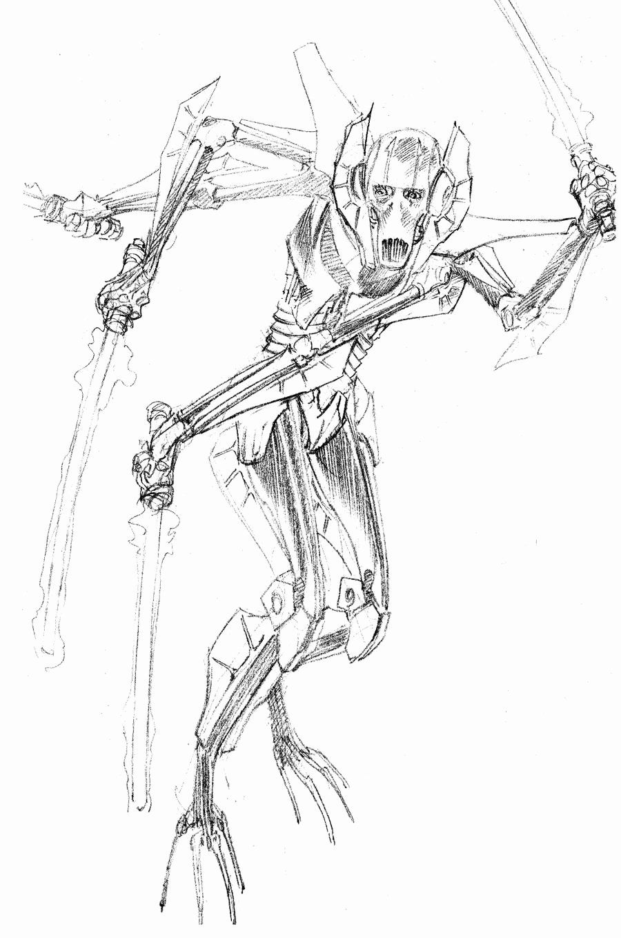 General Grievous Coloring Page Elegant Daily Sketch General Grievous By Paul Moore On Dev Monster Coloring Pages Bug Coloring Pages American Flag Coloring Page